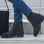 Обувь ручной работы. Ярмарка Мастеров - ручная работа Ботинки валяные женские Grey. Handmade.