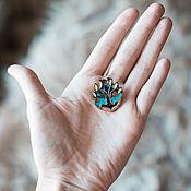 Украшения ручной работы. Ярмарка Мастеров - ручная работа Брошь Яблоня, эмаль. Handmade.