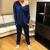 Одежда handmade. Livemaster - original item Cashmere suit knitted Bluestar. Handmade.