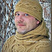 Аксессуары handmade. Livemaster - original item Warm hat and Snood for Men. Handmade.