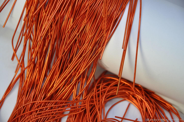 Канитель мягкая Оранж 1 мм, Канитель, Санкт-Петербург,  Фото №1