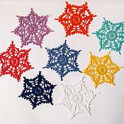 Новогодние сувениры ручной работы. Ярмарка Мастеров - ручная работа Снежинки вязанные крючком. Handmade.