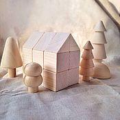 Конструктор деревянный, 18 деталей