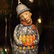 """Подарки к праздникам ручной работы. Ярмарка Мастеров - ручная работа """"Сказка для золотых рыб"""". Ёлочная игрушка. Handmade."""