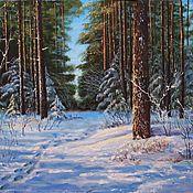 Зимой в лесу 50х70