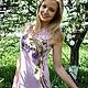 """Платья ручной работы. Платье летнее """"Райский сад"""". Виктория. Ярмарка Мастеров. Цветы, вязание, вышивка"""