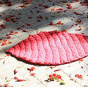 """Для дома и интерьера ручной работы. Ярмарка Мастеров - ручная работа Детский коврик """"Листик"""". 100% лен. Ручная работа.. Handmade."""