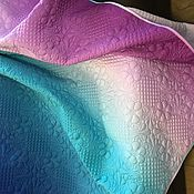 handmade. Livemaster - original item Bedspread quilted with a gradient color. Handmade.