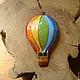 """Броши ручной работы. Брошь с горячей эмалью """" Воздушный шар"""". EmaLU. Ярмарка Мастеров. Радужный шар, разноцветный"""