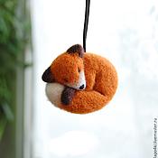 Сувениры и подарки ручной работы. Ярмарка Мастеров - ручная работа подвеска в автомобиль из войлока Лисичка. Handmade.