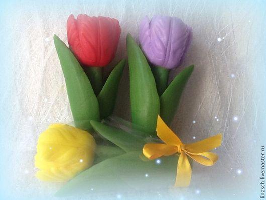 """Мыло ручной работы. Ярмарка Мастеров - ручная работа. Купить Мыло """"Тюльпан"""". Handmade. Желтый, мыло тюльпан, мыло цветок"""