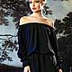 """Платья ручной работы. Ярмарка Мастеров - ручная работа. Купить Шелковое платье-блузон черное """"Итальянская ночь"""". Handmade. Черный"""