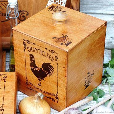 Для дома и интерьера ручной работы. Ярмарка Мастеров - ручная работа Короб коробка для сыпучих продуктов Французская провинция. Handmade.