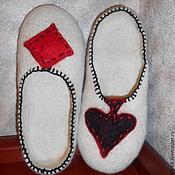 """Обувь ручной работы. Ярмарка Мастеров - ручная работа Тапки """"КОЗЫРНЫЕ"""". Handmade."""