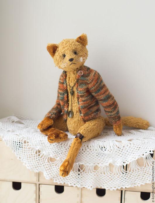 Мишки Тедди ручной работы. Ярмарка Мастеров - ручная работа. Купить Кот Василий. Handmade. Оранжевый, коты, хлопок