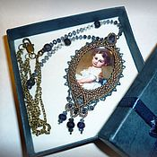 Украшения handmade. Livemaster - original item Pendant with sapphires. Portrait Of V. Lvova N. child. Handmade.