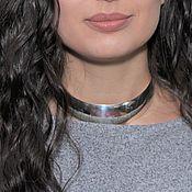 Украшения handmade. Livemaster - original item Minima Series Arc Choker Necklace in polished silver ASH0001. Handmade.