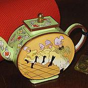 Винтаж ручной работы. Ярмарка Мастеров - ручная работа декоративныи чайник The Charlotte di Vita Collections. Handmade.