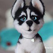 Куклы и игрушки handmade. Livemaster - original item Copyright felted toy puppy Husky Peach. Handmade.