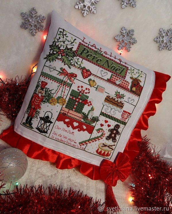 Pillows: with Christmas embroidery, Pillow, Belgorod,  Фото №1