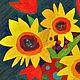 """Картины цветов ручной работы. Картина """"Времена года"""". Стильные картины Дарьи Савельевой. Интернет-магазин Ярмарка Мастеров. Подсолнухи"""