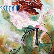 """Материалы для творчества ручной работы. Ярмарка Мастеров - ручная работа Текстильные купоны:  """"В облаках"""". Handmade."""