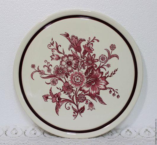 """Винтажная посуда. Ярмарка Мастеров - ручная работа. Купить Керамическое блюдо для торта """"Herbolzheim"""" 1960-е года. Handmade. Керамика"""