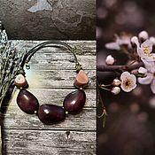 Украшения handmade. Livemaster - original item Necklace: Wild plum. Handmade.