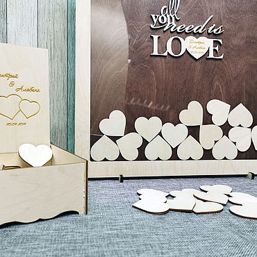 Свадебный салон ручной работы. Ярмарка Мастеров - ручная работа Свадебная рамка для пожеланий. Handmade.