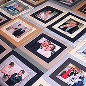 """Для дома и интерьера ручной работы. Ярмарка Мастеров - ручная работа Лоскутное покрывало с фотографиями """"С годовщиной"""" № 500. Handmade."""