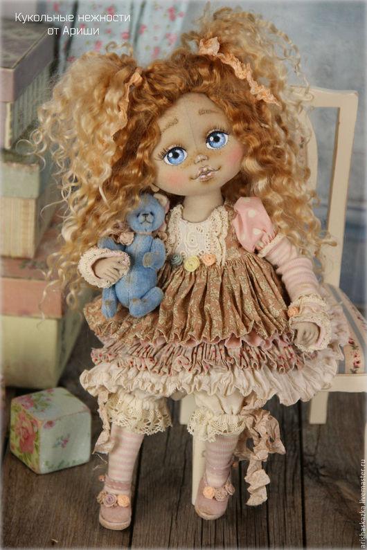 Коллекционные куклы ручной работы. Ярмарка Мастеров - ручная работа. Купить Веснушка  . Кукла авторская текстильная. Handmade. Кремовый, замша