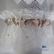 Свадебный салон ручной работы. Ярмарка Мастеров - ручная работа Свадебная подвязка невесты. Handmade.