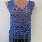 Одежда handmade. Livemaster - original item Handmade top, cotton.. Handmade.