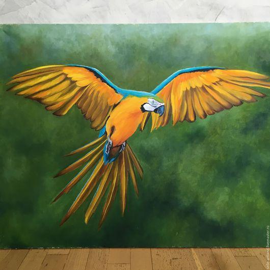 """Животные ручной работы. Ярмарка Мастеров - ручная работа. Купить """" Солнечная птица"""". Handmade. Попаугай ара, яркое оперение"""