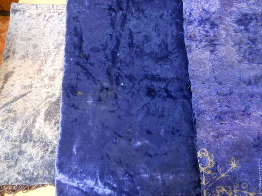 Шитье ручной работы. Ярмарка Мастеров - ручная работа. Купить Плюш винтажный синий. Handmade. Синий, плюш