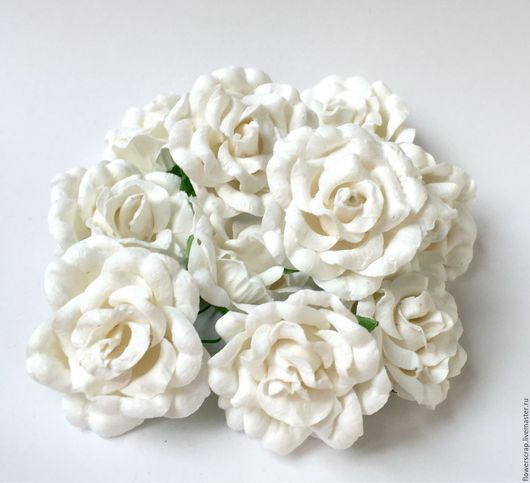 Материалы для флористики ручной работы. Ярмарка Мастеров - ручная работа. Купить Розы открытые, 10шт./уп.. Handmade. Белый, розы