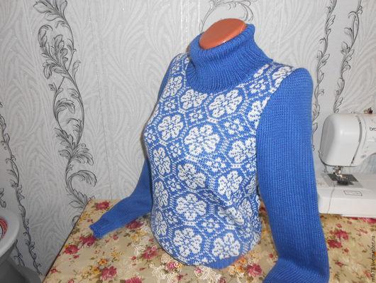 Кофты и свитера ручной работы. Ярмарка Мастеров - ручная работа. Купить Свитер. Handmade. Тёмно-синий, свитер вязаный