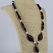 Украшения handmade. Livemaster - original item Necklace of pearls and natural stones (agate, labradorite, hematite). Handmade.