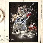 Материалы для творчества handmade. Livemaster - original item Draw a mouse, video master class, Christmas mouse. Handmade.
