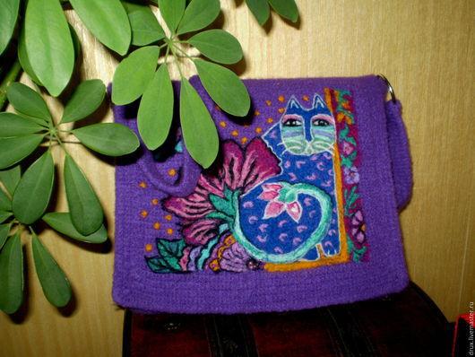 Женские сумки ручной работы. Ярмарка Мастеров - ручная работа. Купить валяная сумка по мотивам работ Лаурель Бёрч. Handmade.