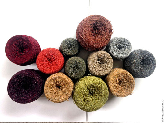 Вязание ручной работы. Ярмарка Мастеров - ручная работа. Купить Soft Donegal Tweed -100% меринос. Handmade. Тёмно-синий