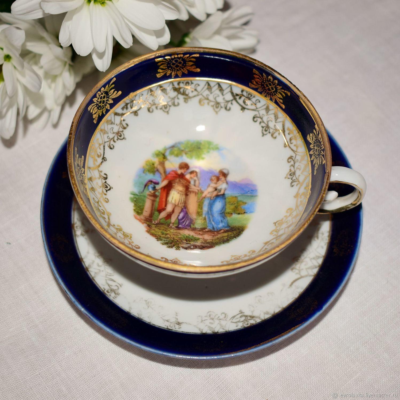 Винтаж: Старинная кофейная пара с мифологическим сюжетом.Германия, Кружки винтажные, Трир,  Фото №1