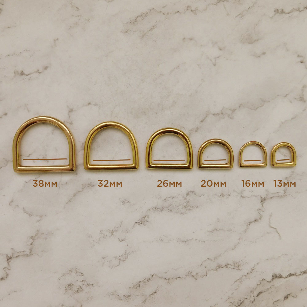 D-образные кольца, латунь: 13, 16, 20, 26, 32, 38мм, Фурнитура для шитья, Дубна,  Фото №1