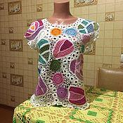 Одежда ручной работы. Ярмарка Мастеров - ручная работа Кофточка из хлопка,связанная крючком. Handmade.