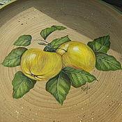 """Для дома и интерьера ручной работы. Ярмарка Мастеров - ручная работа Тарелка """"Молодильные яблочки"""". Handmade."""