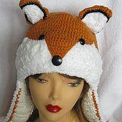 Аксессуары handmade. Livemaster - original item HAT, FOX knitted warm for women. Handmade.