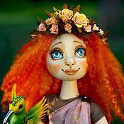 Куклы и игрушки ручной работы. Ярмарка Мастеров - ручная работа Муза Вдохновения текстильная коллекционная кукла. Handmade.