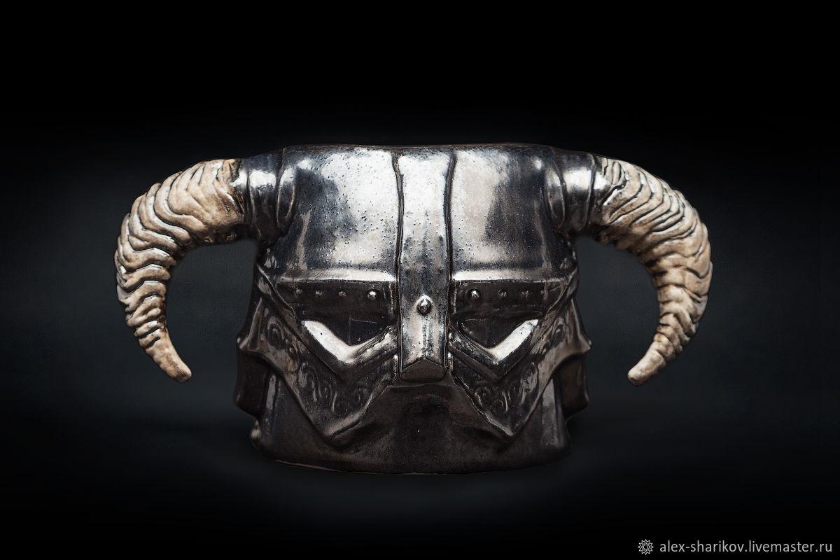 Скайрим Кружка (шлем Довакина) Skyrim Iron Helmet Mug, керамическая, Кружки и чашки, Санкт-Петербург,  Фото №1