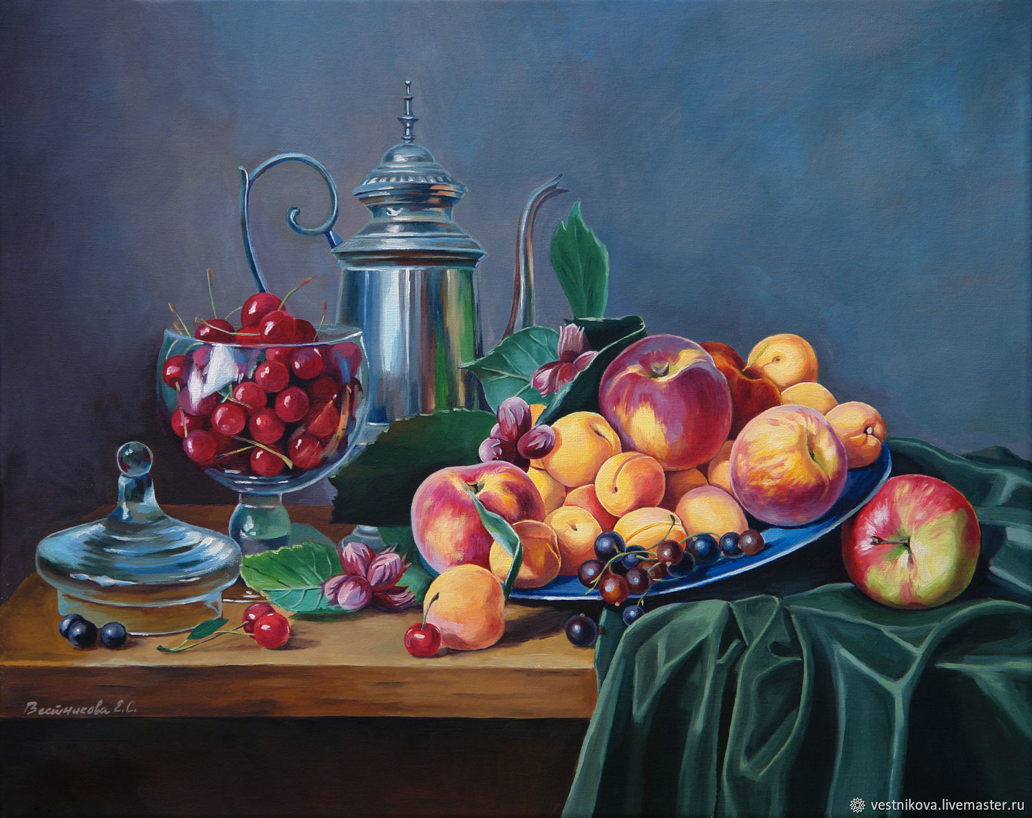 Painting Classic still life, oil, canvas 40h50, Pictures, Moscow,  Фото №1