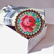 """Украшения ручной работы. Ярмарка Мастеров - ручная работа Брошь """"Роза 2"""". Handmade."""